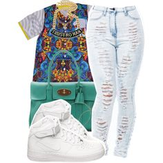 A fashion look from June 2014 featuring NIKE sneakers, Mulberry tote bags and Juicy Couture necklaces. Browse and shop related looks.