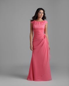 a nice modest dress...without the pin-up flower please. and maybe in satin material.