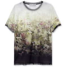Valentino Secret Garden T-shirt ❤ liked on Polyvore featuring tops, t-shirts, shirts, tees, shirt top, valentino t shirt, tee-shirt, t shirt and valentino shirt