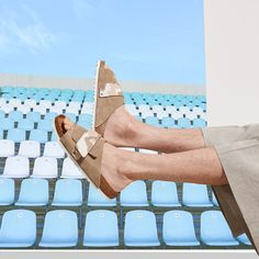 Discover new sandals and shoes for the season. All Fashion, Fashion Trends, Summer Collection, Birkenstock, Spring Summer, Wedges, Sandals, Shopping, Shoes