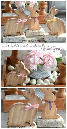Easter decor, wood bunny, DIY easter decoration, bunny, Easter bunny, scrapwood project Easter Gift, Hoppy Easter, Easter Bunny, Easter Eggs, Easter Arts And Crafts, Bunny Crafts, Easter Projects, Easter Baskets, Twig Lights
