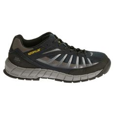 Caterpillar Men's Infrastructure Medium/Wide Steel Toe Work Shoes (Navy/Grey) - 11.0 M