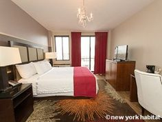 Experience luxury like never before in this #vacation #rental #studio in #NYC! Building features include laundry, an elevator, A/C, internet and a gym. Check it out: http://www.nyhabitat.com/new-york-apartment/vacation/15784