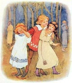 Margaret W. Tarrant (1888 – 1959, English)  This illustration appeared in the Mother Goose Nursery Rhymes book of my childhood - lovely memories.
