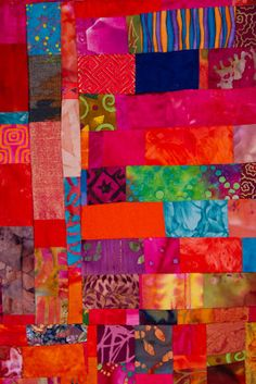 Fuschia Blue Hot Pink and Orange Art Quilt by ColorQuiltsbyCarolyn, $3000.00
