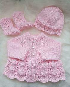 Isabella Baby Cardigan, Hat & Booties knitting pattern