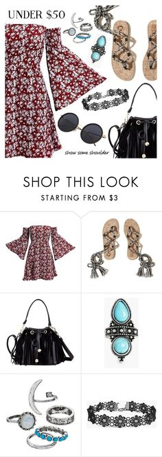 """Under 50$"" by dressedbyrose ❤ liked on Polyvore featuring Hollister Co. and Boohoo"