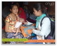 Help Onya Baby give more baby carriers to moms in need. Because when you give a mom a baby carrier, you free her life in countless ways.