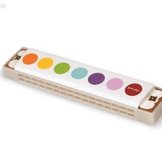 Janod Harmonica - This red, yellow, green, and orange Confetti Janod Harmonica, is part of a complete line of musical Presents For Kids, Nintendo Wii Controller, Holiday Gift Guide, New Toys, Stocking Stuffers, Usb Flash Drive, Gifts, Stuff To Buy, Products
