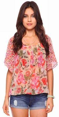 Floral blouse #forever21 $18