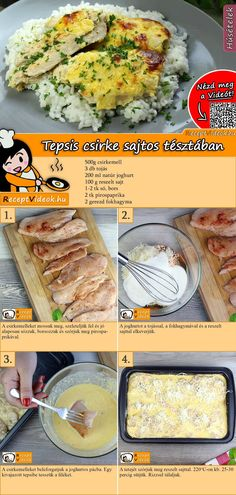 Grilling Recipes, Meat Recipes, Chicken Recipes, Cooking Recipes, Healthy Recipes, Quick Recipes, Quick Meals To Make, Hungarian Recipes, Baked Chicken Breast