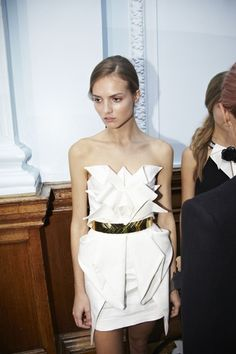 sass and bide // love, love, love everything about this dress // origami // gold // modern greek goddess