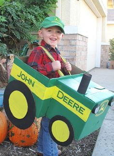 John Deere tractor costume, Parker wants to be this !!!!