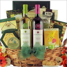 Happy easter sugar free gourmet easter gift basket easter gift beringer california collection easter wine duet gift basket negle Images