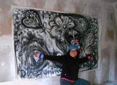Always wanted to do a graffiti  :) wish i could always paint these big pieces!!