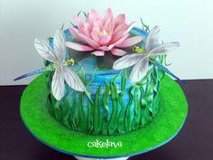 Dragonfly cake by Rick Reichart. www.cakelava.com