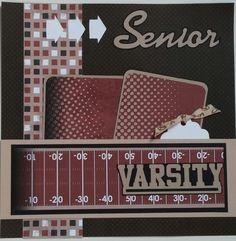 Football  Senior  Varsity  Sports premade by ohioscrapper on Etsy, $15.00