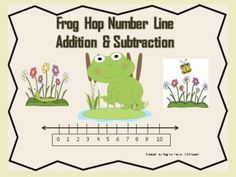 Awesome!!  Have fun with this gross motor activity before doing worksheets using a number line to solve addition/ subtraction problems. Students will love hopping on these adorable frogs. They will hop to the right to solve addition problems and hop to the left to solve subtraction problems. You will receive 10 number line worksheets in all. {four #addition, four #subtraction, two mixed operations}   Enjoy!!!
