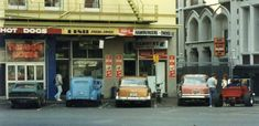 Dog House in the square. Fish, Chips, Burgers and Space Invaders. Photo 1985