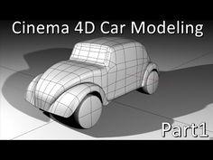 Cinema 4D | Car | Modeling (beetle vw) Pt1 - YouTube