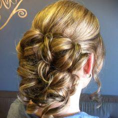 @Loretta's beatiful hair for my wedding!