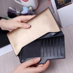 Valódi bőr női Egyszerű Ultravékony Wallet pénztárca Kártyabirtokos Card Táska