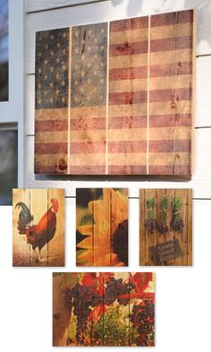 Would love a couple of these   Outdoor Art, Gizaun Wall Art, Wood Paintings, Paintings on Wood   Solutions