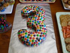 3 Smartie Cake - Hamish's 3rd birthday cake