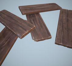 3d cartoon wooden planks