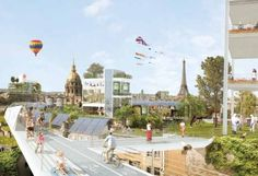 Utopian Vision and Starchitecture Set to Transform Paris - Globe ... (if you ignore the obvious landmarks, it could be a cool futuristic city)