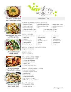 Vegan Meal Plan | 02.13.17