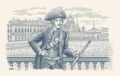 Гравюры by INORAMA illustrators, via Behance