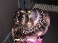 Another Special Occasion/ Easter Updo Hairstyle – Pigtail Hairstyles Pigtail Hairstyles, French Braid Hairstyles, Braided Hairstyles For Wedding, Little Girl Hairstyles, Cool Hairstyles, Updo Hairstyle, French Braids, Toddler Hairstyles, Bun Updo