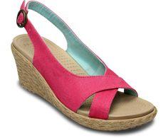 Women's A-Leigh Linen Wedge   Women's Heels & Wedges   Crocs Official Site