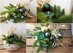 świąteczny świecznik/ chrismas candlestick