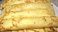 Tasty pancakes w/o milk and eggs - can be a vegan diet. Hungarian Desserts, Hungarian Recipes, Russian Recipes, Crepes And Waffles, Tasty Pancakes, Sweet Desserts, Sweet Recipes, Good Food, Yummy Food