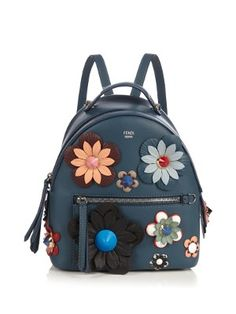 FENDI By The Way Mini Flowerland Backpack.  fendi  bags  leather  crystal 33c7f68fb51a4