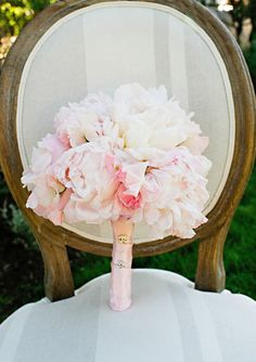 Pink Peony and Sweetpea Bouquet at Sonoma Estate Wedding from 100 Layer Cake