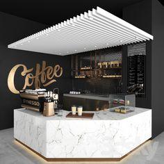 Look & Feel: Coffee Shop Coffee Bar Design, Coffee Shop Interior Design, Restaurant Interior Design, Coffee Shop Interiors, Coffee Cafe Interior, Cafe Interiors, Coffee Shop Counter, Coffee Shop Bar, Coffee Shops Ideas