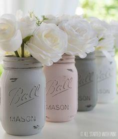 painted-distressed-mason-jars-pink-grey-chalk-paint (9 of 21) 2