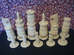 Antique Chess Pieces Photos - Google Search