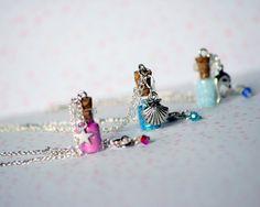orange pixie dust necklace | Custom Mini Pixie Dust Necklace, Fairy Dust Necklace, Wish Upon A Star