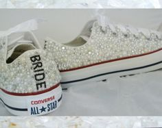 Crystal Converse wedding shoes prom shoes all by BejewelledBride