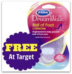 FREE Dr. Scholl's Dreamwalk Insoles At Target With New Coupon on http://www.moneysavingmadness.com