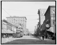 10. A view of Second Avenue looking east in Birmingham, Alabama - 1906.