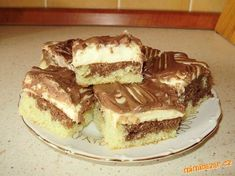 Fashion and Lifestyle Sweet Desserts, Dessert Recipes, Czech Recipes, Ethnic Recipes, Sweet Cakes, Tiramisu, Holiday Recipes, Sweet Tooth, Food And Drink