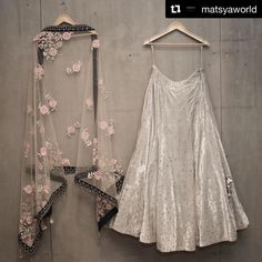 ( ・・・ Matsya ~ Couture The Mukaish Story. Indian Wedding Outfits, Indian Outfits, Lehnga Dress, Gown, Dress Skirt, Indian Lehenga, Lehenga Designs, Desi Clothes, Indian Attire
