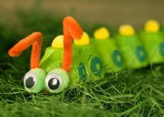 Craft - Caterpillar - using Egg Carton