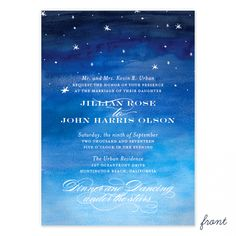 Starry Night Wedding Invitation | Smitten on Paper
