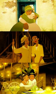 *TIANA & EUDORA (mother?) ~ The Princess and the Frog,
